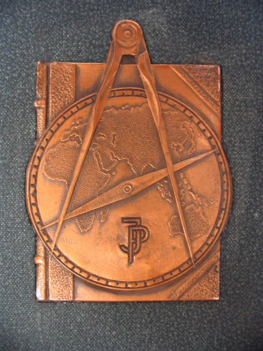 Stielers Hand-Atlas 1905 Copper plaque on front cover (click to enlarge)